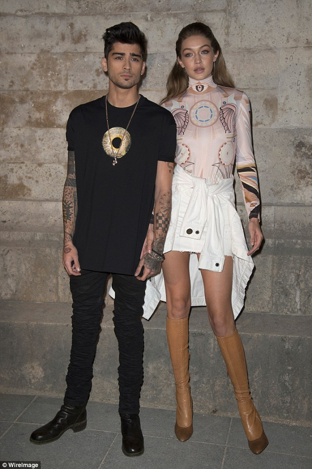 New love: Since splitting with Perrie in 2015, Zayn has embarked on a romance with Gigi Hadid