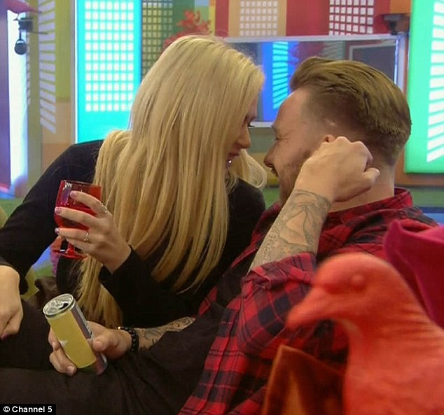 Oh dear:Nicola shocked her fellow housemates during Monday night's episode of Celebrity Big Brother as she put on a flirty display with Jamie