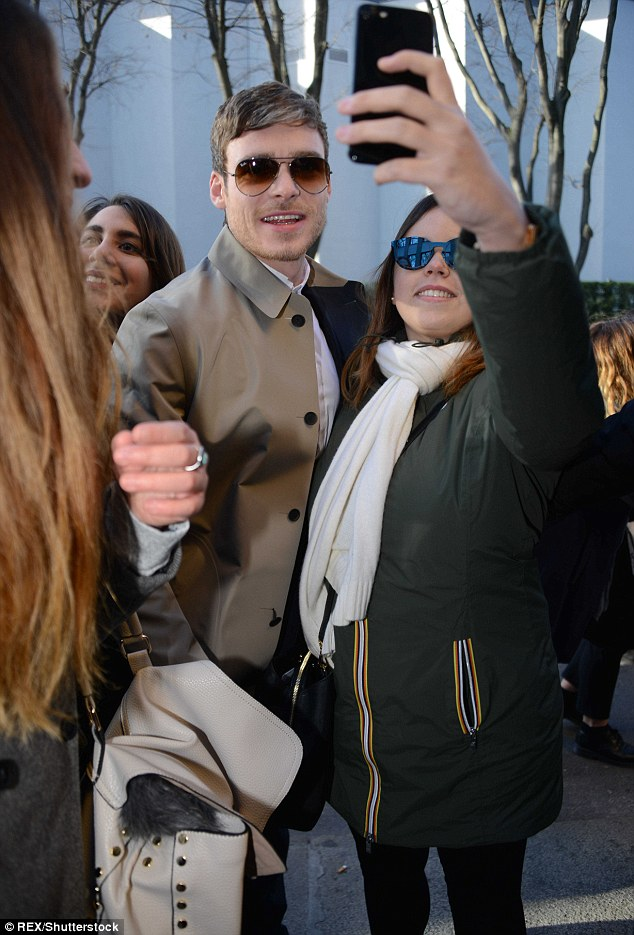 Smile! Former Game of Thrones star Richard was mobbed by by some happy fans