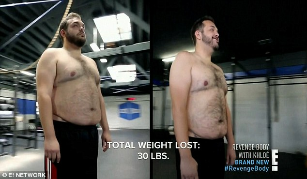 Before and after: Will stuck to it and lost 30 pounds in 12 weeks