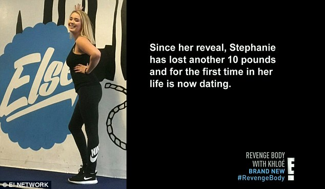 Feeling good: Stephanie since her reveal dropped another 10 pounds