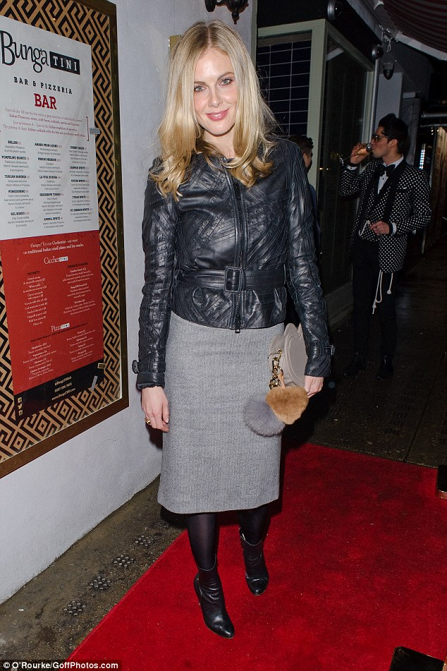 Hell for leather: Donna Air was also present and looked sartorially chic in her pencil skirt and jacket