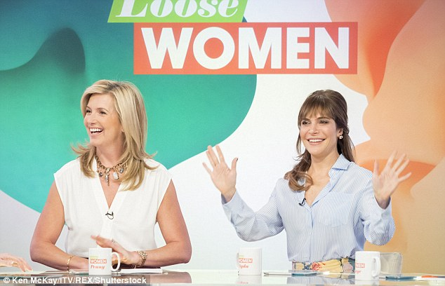 It's completely natural: Fellow panellist Ayda Field also admitted it took her a while to get used to her changing body shape after giving birth