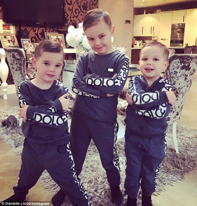 Cute kids: Jamie revealed that his children want to be footballers like him