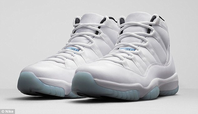 The Air Jordan 11 Retro Legend Blue sneakers cost $200 and won't be on the shelves until next Saturday