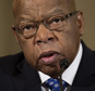 FILE - In this Jan. 11, 2017 file photo, Rep. John Lewis, D-Ga. testifies on Capitol Hill in Washington at the confirmation hearing for Attorney General-designate, Sen. Jeff Sessions, R-Ala., before the Senate Judiciary Committee. Lewis says he¿s doesn¿t consider Donald Trump a ¿legitimate president,¿ blaming the Russians for helping the Republican win the White House. (AP Photo/Cliff Owen, File)