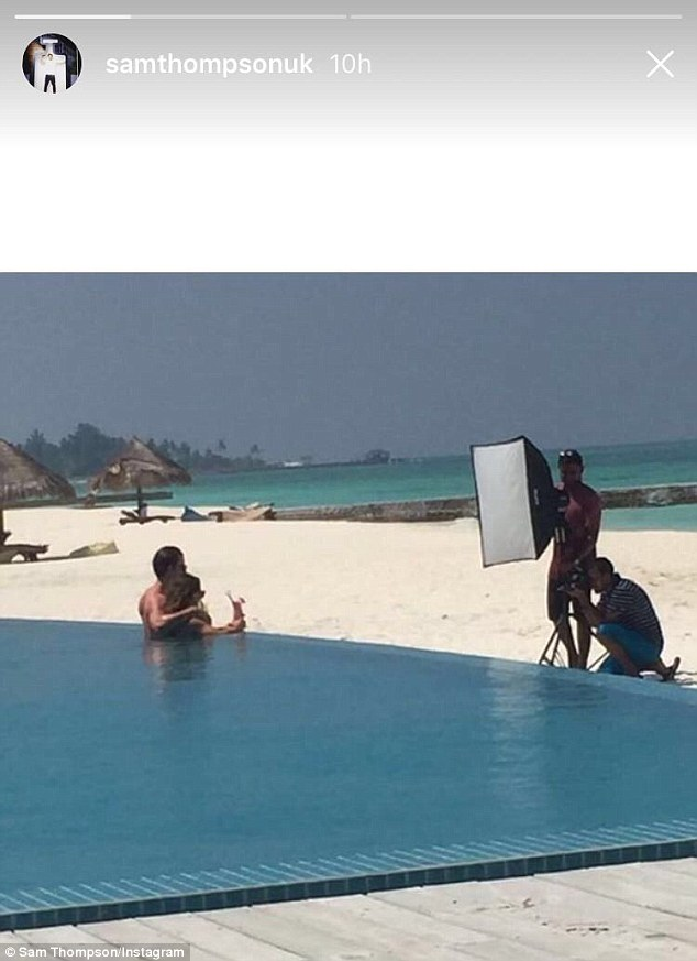 Secret's out!Hilariously, her co-star brother Sam has decided to out the lengths the couple will go to in order to share their self-promoting, body-baring snaps - with the results including a professional photographer and lighting team