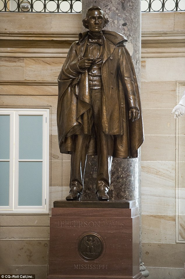 Rep. Clay has argued that there are more offensive pieces of art in the Capitol Building, including a statue of confederate leader Jefferson Davis
