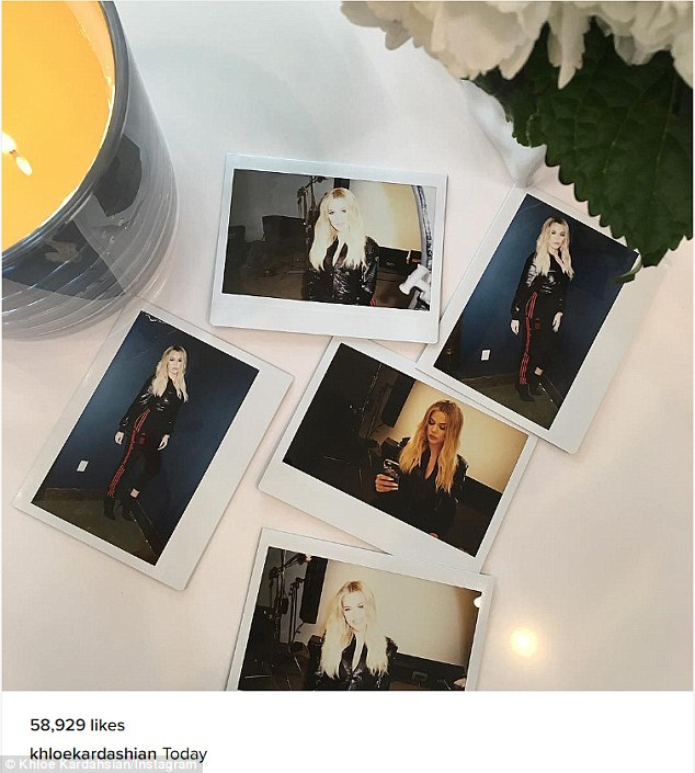 Views: Khloe shared an Instagram picture of five different Polaroid shots taken on Thursday