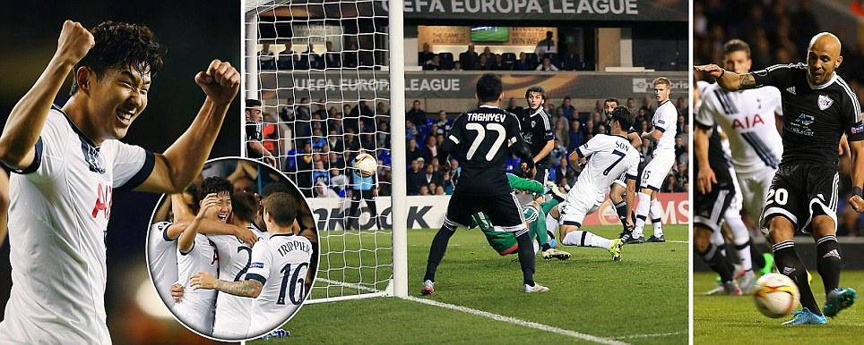 Tottenham 3-1 FK Qarabag: Heung-min Son scores quick-fire double to hand Spurs the perfect