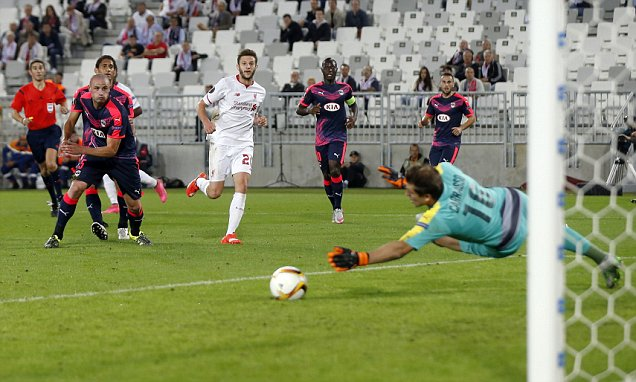 Bordeaux 1-1 Liverpool: Adam Lallana opens scoring with vintage solo goal but