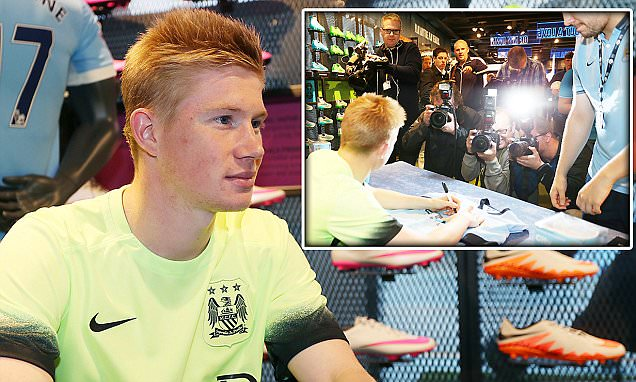 Kevin De Bruyne thanks Manchester City fans for 'warm welcome' as Belgium star eyes first