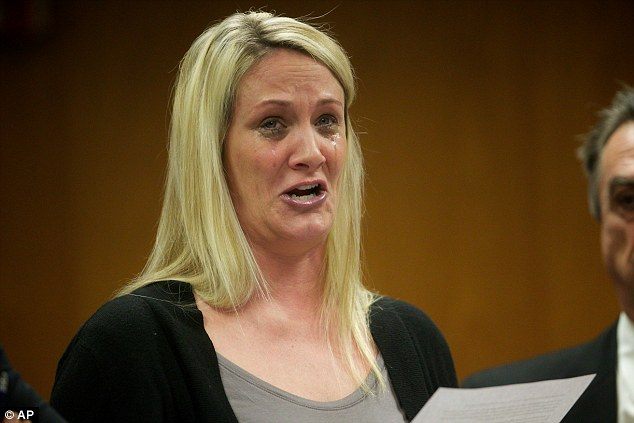 Ex-Washington County Jail staffer Jill Curry, 39, cries in court earlier this year as she was sentenced to more than four years in prison for repeatedly having sex with an inmate in a supply closet