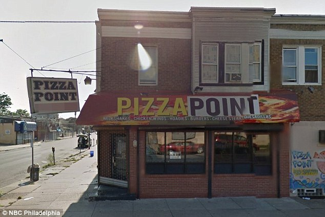 Khalil owns the Pizza Point (seen) restaurant in Philadelphia. He moved to the US from Palestine 15 years ago