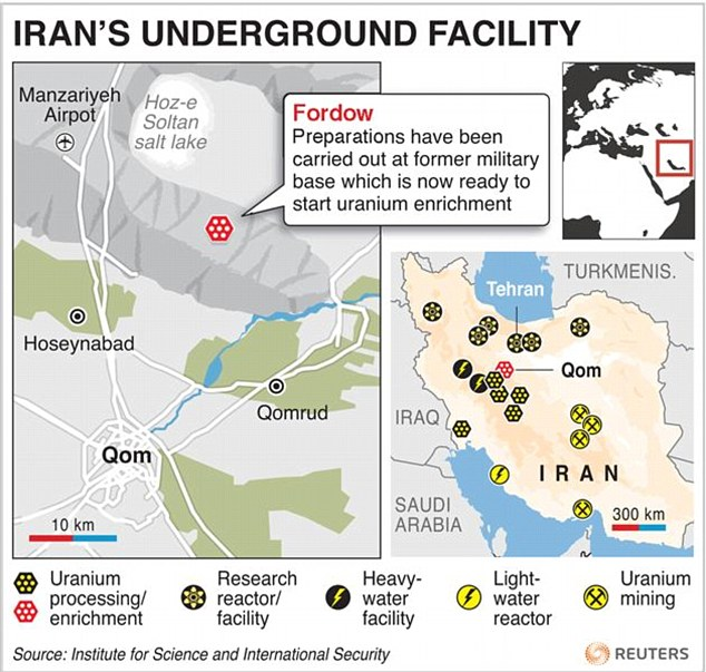 Nuclear programme: Iran has opened a new facility at Fordow, near the town of Qom