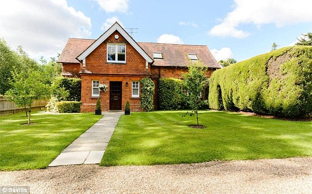 The most expensive place to live within a 40 to 59 minute commute of central London is Shiplake in Oxfordshire, where this four bed house is for sale for £1,150,000