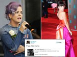 """Lily Allen, who claimed she had """"only ever been sexually assaulted by white males"""" during a Twitter row with English Defence League co-founder Tommy Robinson over migrants.  Allen and Robinson exchanged barbs online after she criticised the use of the word """"migrant"""" in an article about the Turkish nightclub attack, which she said was """"racism"""".  PRESS ASSOCIATION Photo. Issue date: Tuesday January 3, 2017.  See PA story SHOWBIZ Allen. Photo credit should read: Daniel Leal-Olivas/PA Wire"""