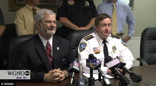 Police chief Randy Smith (right) said that Jones was lost and confused after she brought the baby into the world, and coroner Dr Charles Preston (left) said that the baby could have survived if medical help was called