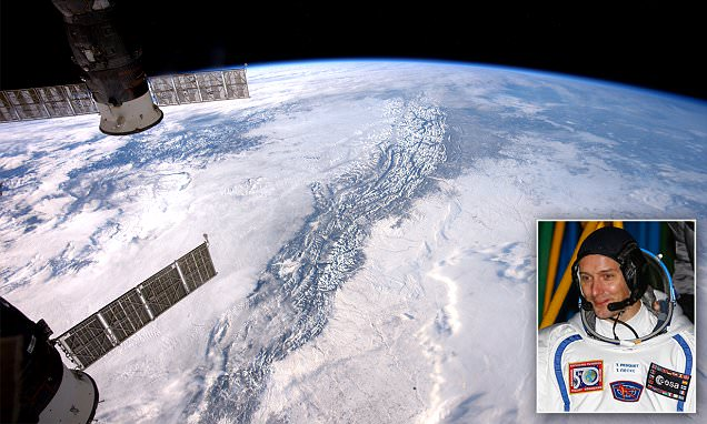 Rocky Mountains from space
