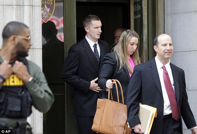 Nero (center), pictured with members of his legal team, had faced assault, misconduct and reckless endangerment charges following the death of the 25-year-old