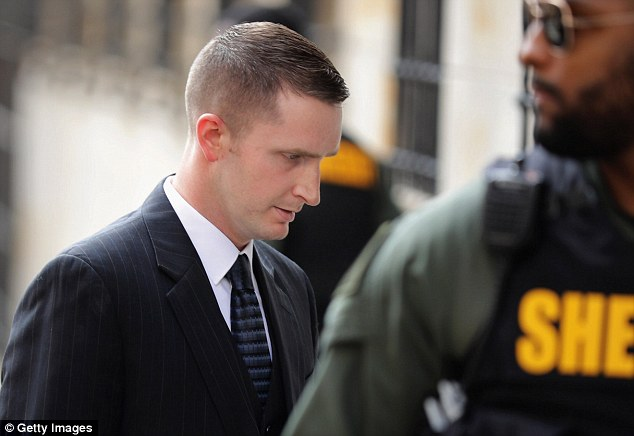 Nero kept his head down as he walked into court. His defense lawyers arguedthat his client didn't arrest Gray and that it is the police van driver's responsibility to buckle in detainees