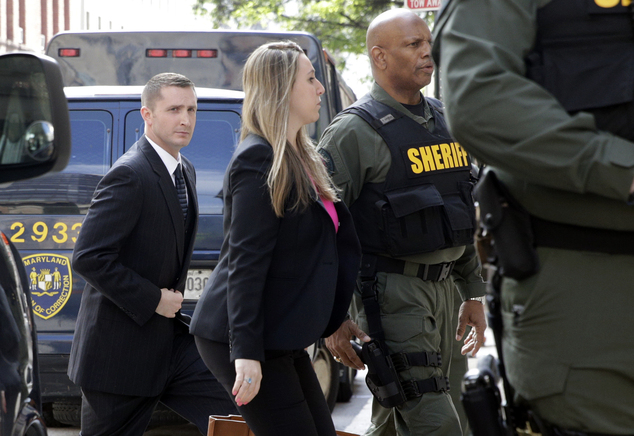 Nero was surrounded by police officers and members of his legal team as he walked into the courthouse