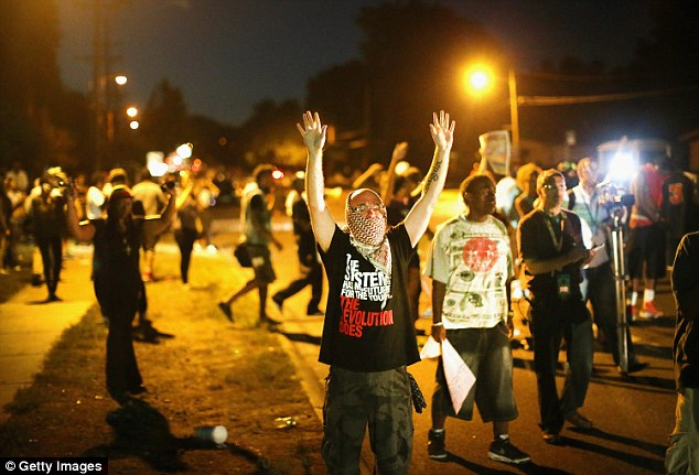 The black teenager's death led to a wave of protests in Ferguson against police brutality against black people