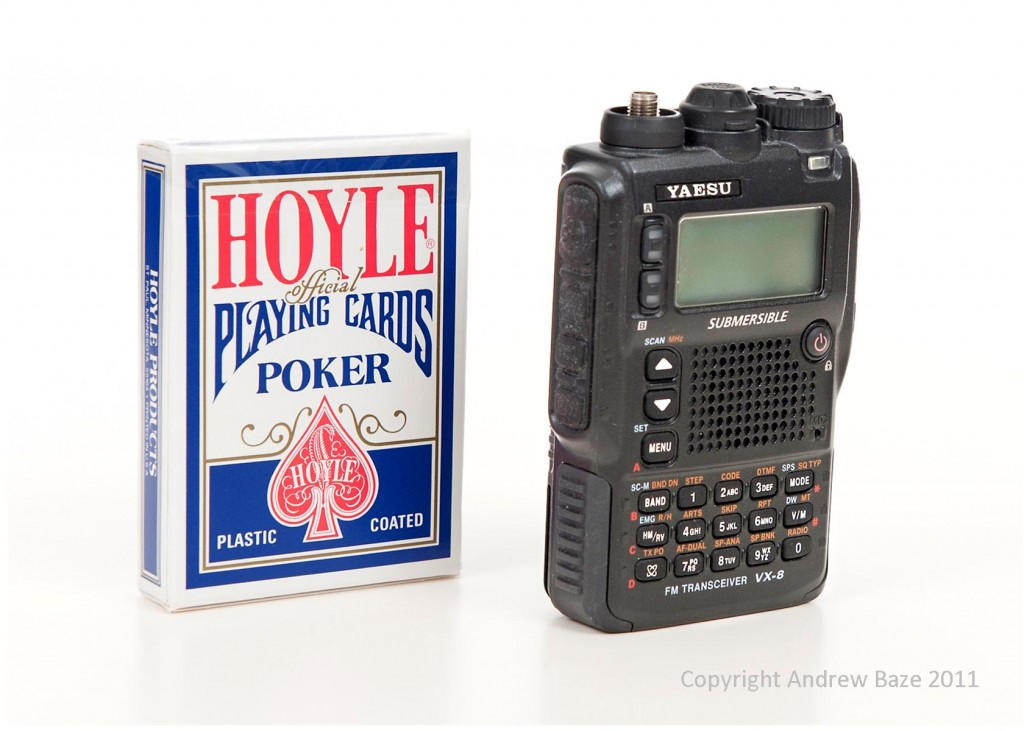 VX-8R and a deck of cards