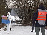 Six teenagers - one woman and five men all aged 18 or 19 - were found dead Sunday after holding a party in a garden shed inArnstein, Germany. Pictured above, a police officer stands in front of a closed off entrance to the private ground