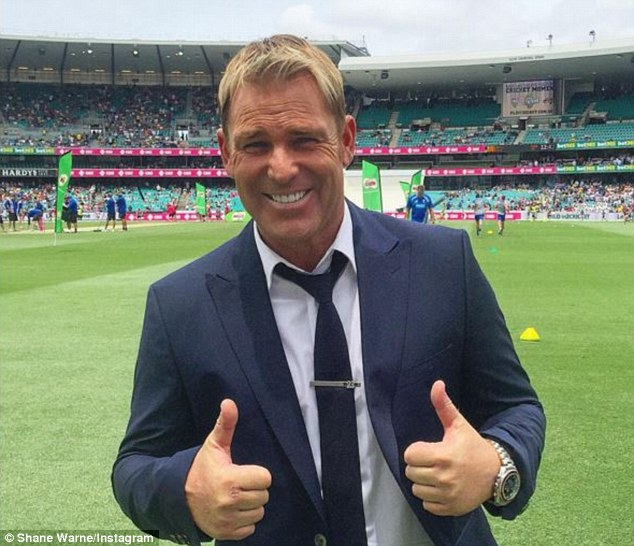 Warnie approved:Warnie and Sheeran have been best buddies since they went out in Melbourne with mutual friends after a Kylie Minogue concert