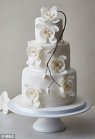 Orchid Elegance Wedding Cake, £349.00