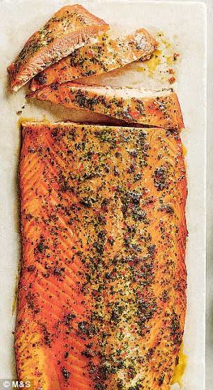 Soy, Chilli & Ginger Marinated Scottish Lochmuir™ Side of Salmon, £25.00