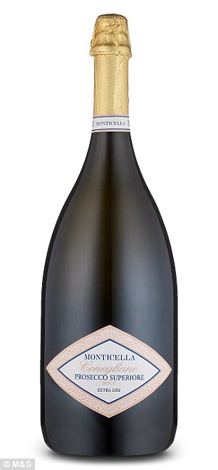 Go large: Couples will impress their guests by using a magnum of Monticella DOCG Prosecco Jeroboam, £50.00