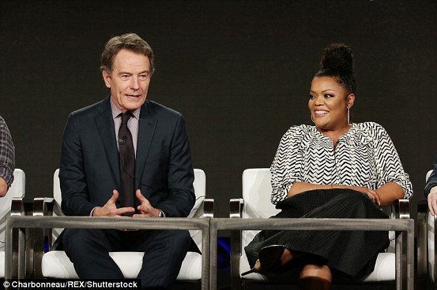 Co-stars: Bryan Cranston and Yvette Nicole Brown were also both on hand to chat about their new Crackle series SuperMansion