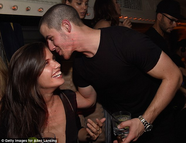 Cozy couple: Nick Jonas had his hands all over Sara Samaio recently, Life & Style Weekly has claimed. Here they are seen in June in NYC