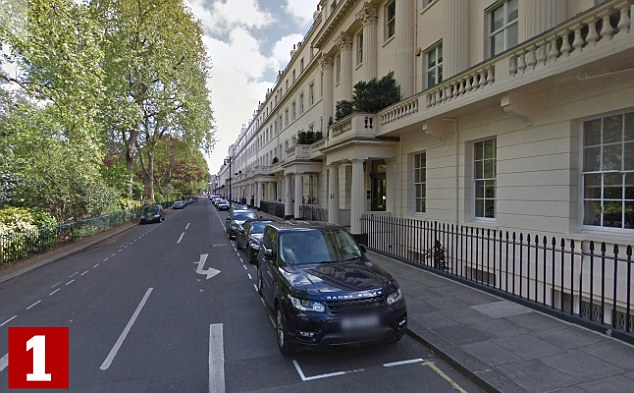 The top seven most expensive places to live in Britain are in London's Westminster or Kensington, with Eaton Square (pictured) taking the top slot