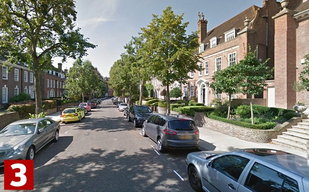 In third place is Ilchester Place, in Kensington, where the average home costs £16,029,000