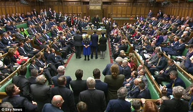 One furious Labour MP yelled 'suicide' as the result was read out in the chamber tonight