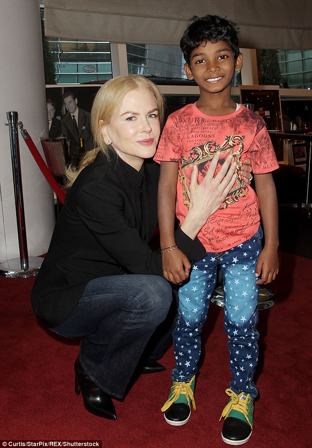 Motherly love: Sunny Pawar has revealed that his Lion co-star Nicole Kidman was like a mother to him during the time they shot the critically acclaimed movie
