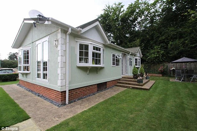 Exclusive: This two bedroom mobile home in Denham, Buckinghamshire, is only available to cash buyers aged at least 55-years old