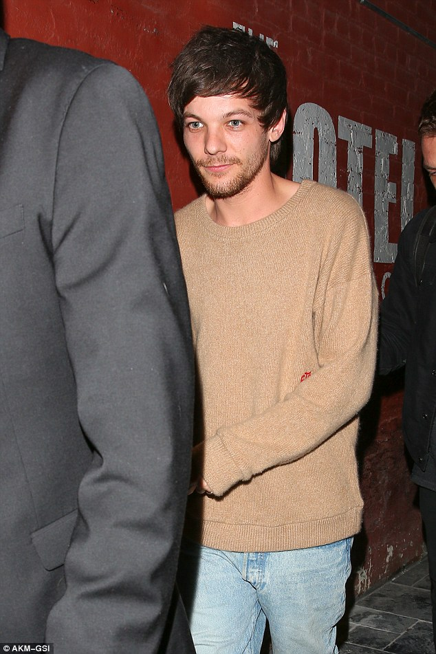Boys night out! Louis Tomlinson, 25, looked a little bleary-eyed as he enjoyed a boys' night out with James Arthur at Hotel Café in Los Angeles, California, on Thursday evening
