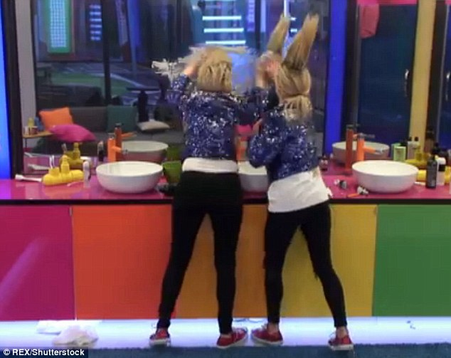 Dig:However they appeared to make a few subtle digs, with Nicola shrieking about herself after lathering cream on the mirror: 'Ah she's awful! She's going to tell the rest of the house!'
