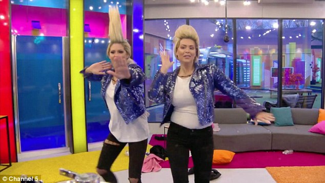 Uncanny:In a bid to cure boredom, Bianca and Nicola decide to dress up in Jedward's blue glittery jackets and jeans, and channel the twins for the day