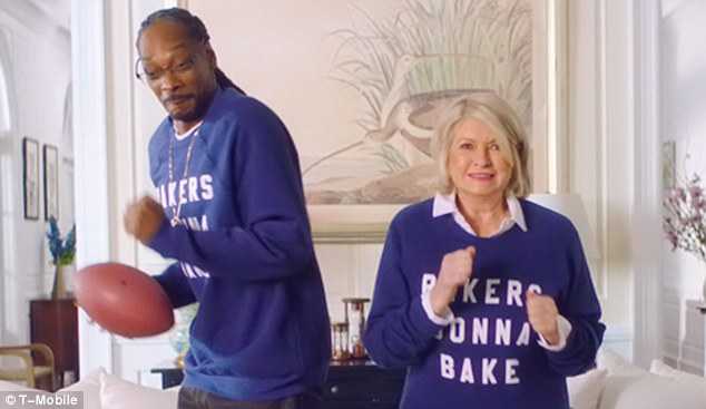 Unlikely pairing: Martha Stewart and Snoop Dogg have teamed up for a Super Bowl commercial