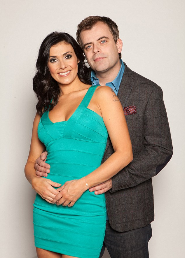 Touchy:Coronation Street bosses were not keen to discuss the wall - and didn't reveal whether there was a similar noticeboard in their new Trafford studios (pictured,Simon Gregson as Steve McDonald and Kym Marsh as Michelle Connor)