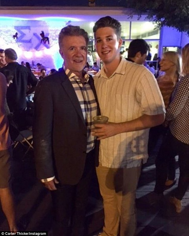 Coping: When Alan Thicke died at the age of 69 after a heart attack in December, his son Carter Thicke got consolation from an unexpected source