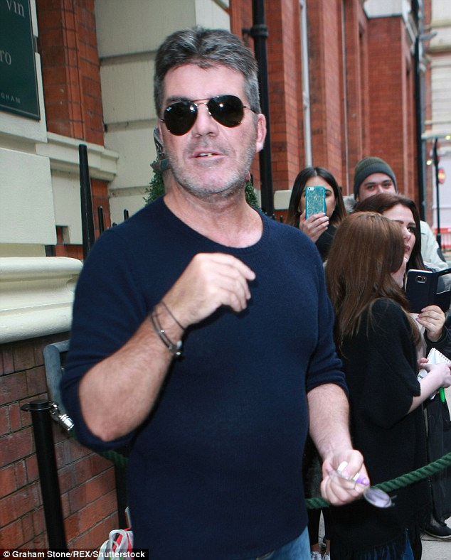 Suave: Simon Cowell and David Walliams looked dapper as they tried to match up to their female counterparts as the Britain's Got Talent auditions kicked off on Friday