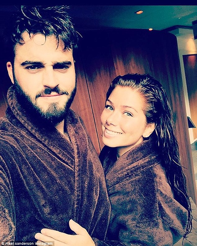 'Lovely weekend away': The couple went to a spa to celebrate their anniversary earlier this week