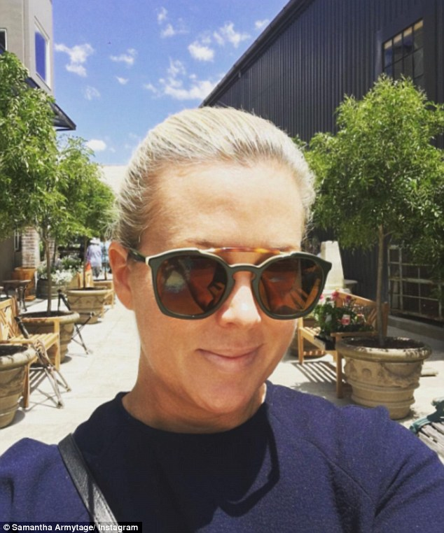'My dad (& many others!) have just spent ALL night fighting a bushfire out past Currawarna':The journalist, 40, related personally to the out-of-control fire, claiming her father was one of the many volunteers working tirelessly to keep the danger at bay