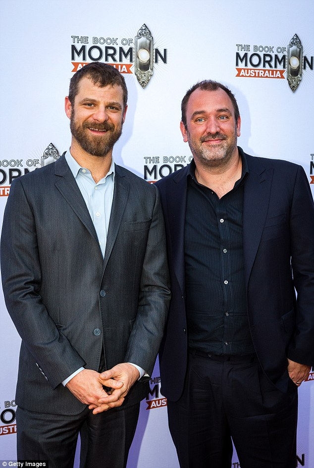 Suits you!Trey Parker and Matt Stone were on hand to mark the star-studded premiere of the Broadway production at Princess Theatre in Melbourne on Saturday
